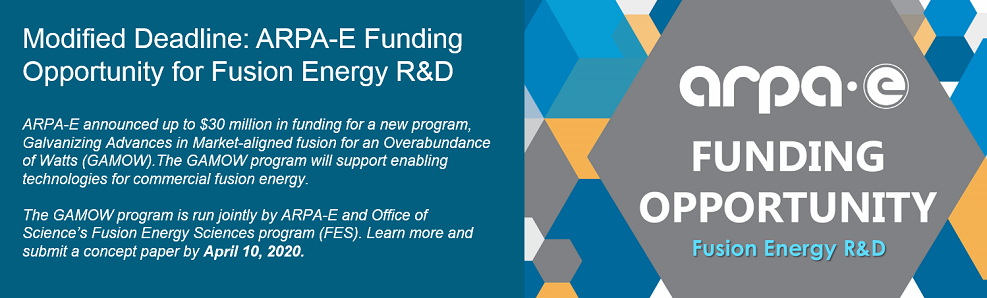 New ARPA-E Funding Opportunity for Fusion Energy R&D