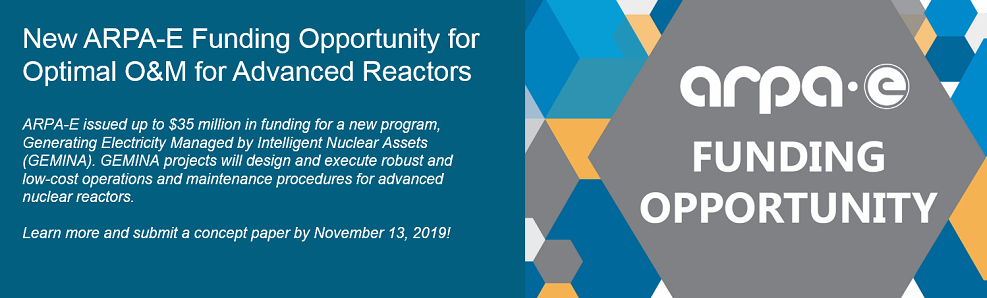 New ARPA-E Funding Opportunity for Optimal O&M for Advanced Reactors