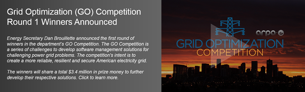 Grid Optimization (GO) Competition Round 1 Winners Announced