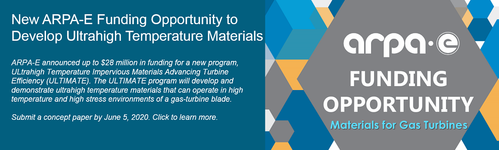 New ARPA-E Funding Opportunity to Develop Ultrahigh Temperature Materials